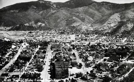item thumbnail for Panoramic view of Kellogg, Idaho.