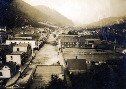 item thumbnail for View of business district. Mullan, Idaho.