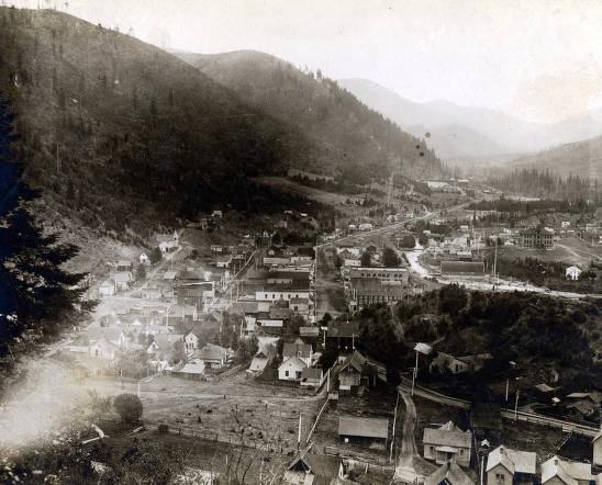item thumbnail for Panoramic view of Mullan, Idaho.