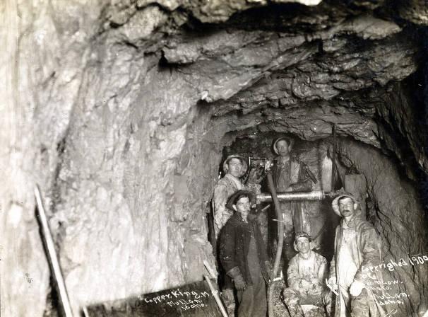 item thumbnail for Underground drilling crew. Copper King Mining Company. Mullan, Idaho.