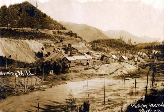 item thumbnail for View of Morning Mill and river. Mullan, Idaho.