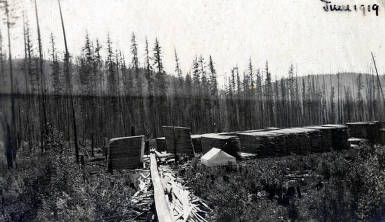 item thumbnail for Schmidt Brothers Lumber Co. lumber yard and flume. Eileen, Idaho.
