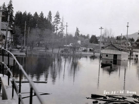 item thumbnail for View of flood looking north at Lakeshore. Coeur d'Alene, Idaho.