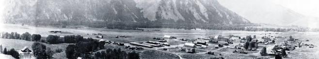 item thumbnail for Copy print of panoramic view of Ketchum, Idaho.