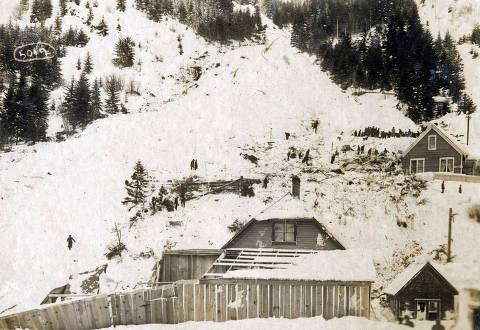 item thumbnail for Snowslide. Mace, Idaho.