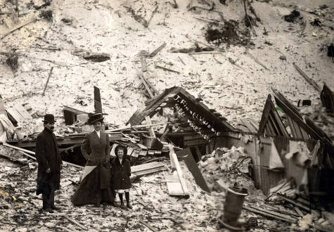 item thumbnail for J. Finnell home demolished by snowslide. Mace, Idaho.