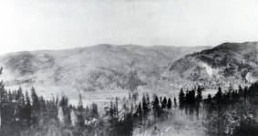 item thumbnail for Copy print of framed photo of Orofino, Idaho.