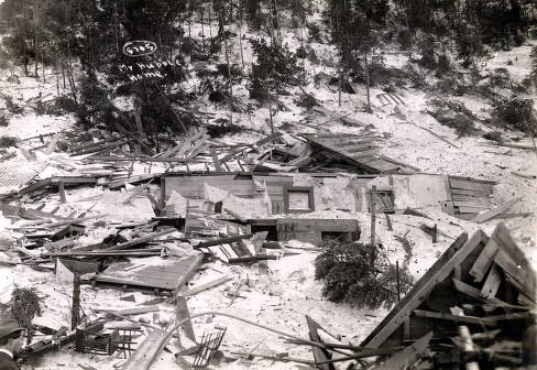 item thumbnail for Mr. Hubble home demolished by snowslide. Mace, Idaho.
