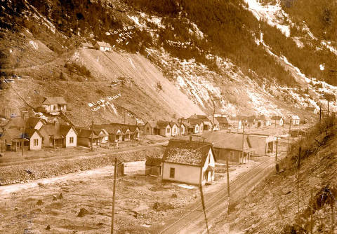 item thumbnail for View of town of Black Bear, Idaho and Black Bear Mine.