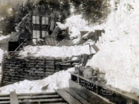 item thumbnail for Snowslide. Hercules Mine. Burke, Idaho.