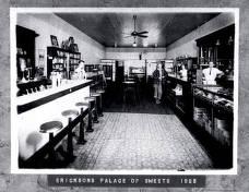item thumbnail for Copy print of framed photo of interior of Erickson's Palace of Sweets. Orofino, Idaho.