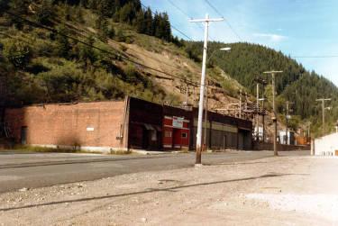 item thumbnail for Abandoned Main Street of old Burke, Idaho.