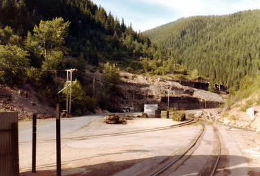 item thumbnail for Burke, Idaho. Taken from the north end of the Star Mine complex toward the site of the former Tiger Hotel.