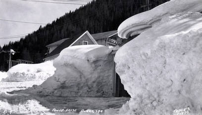 item thumbnail for Powerhouse covered by snow. Burke, Idaho.