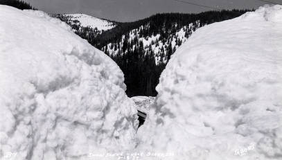 item thumbnail for Snow scene near Burke, Idaho.