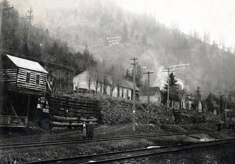 item thumbnail for View from across railroad tracks. Frisco, Idaho.
