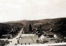 item thumbnail for View of Leland, Idaho taken from the schoolhouse steps.