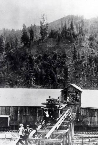 item thumbnail for Grain warehouse and tramway. Kendrick, Idaho.