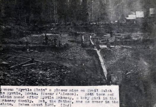 item thumbnail for Myrtle Claim on Trail Gulch. Myrtle, Idaho.