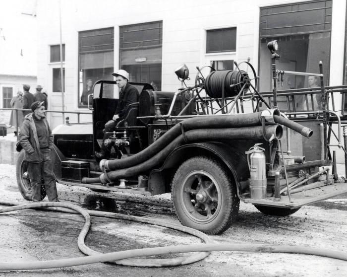 item thumbnail for La France fire engine at Potlatch Mercantile fire. Potlatch, Idaho.