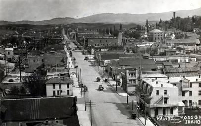 item thumbnail for Main Street looking north. Moscow, Idaho.