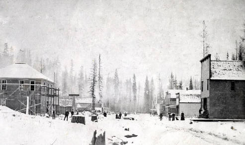 item thumbnail for View of Troy, Idaho in winter.