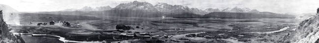 item thumbnail for Copy print of panoramic view of Stanley, Idaho.