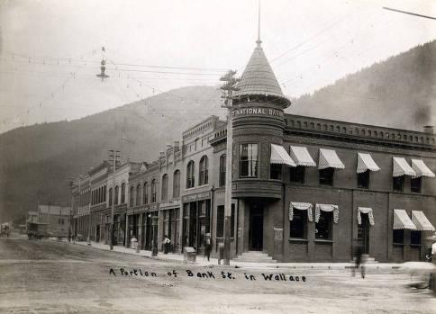 item thumbnail for Portion of Bank Street. Wallace, Idaho.