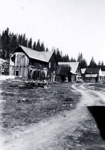 item thumbnail for Looking north with Dixie Hotel in foreground. Dixie, Idaho.