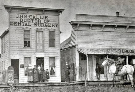 item thumbnail for Dental office of Dr. J.H. McCallie on Main Street from intersection of 1st and Main Streets. Moscow, Idaho.