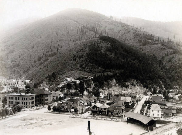 item thumbnail for View of Wallace, Idaho showing schools in left foreground.