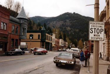 item thumbnail for Street scene. Wallace, Idaho.