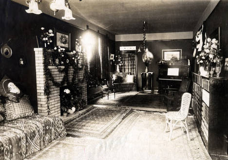 item thumbnail for Room in F.F. Johnson home decorated for the reception of President Theodore Roosevelt. Wallace, Idaho.