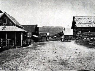item thumbnail for View of historical mining camp of Warrens, Idaho.