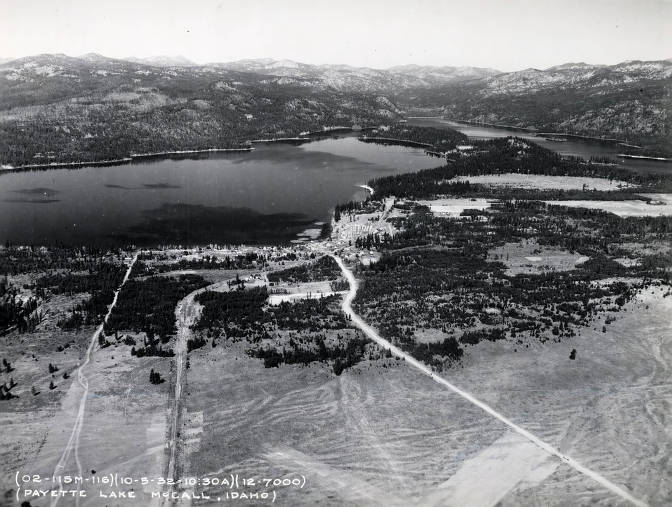 item thumbnail for Aerial view of Payette Lake. McCall, Idaho.