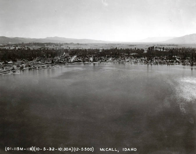 item thumbnail for Aerial view of portion of Payette Lake. McCall, Idaho.