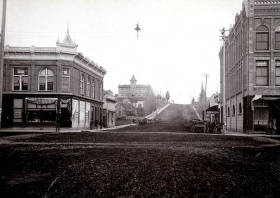 item thumbnail for First Street looking east from Main Street. Moscow, Idaho.