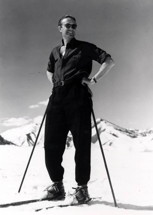 item thumbnail for Averell Harriman, founder of Sun Valley, on Dollar Mountain. Sun Valley, Idaho.