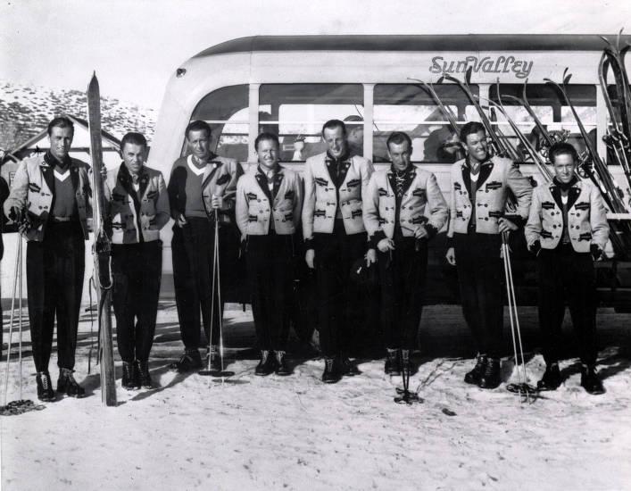 item thumbnail for Original ski school. Hans Hauser, Director, on far left. Sun Valley, Idaho.