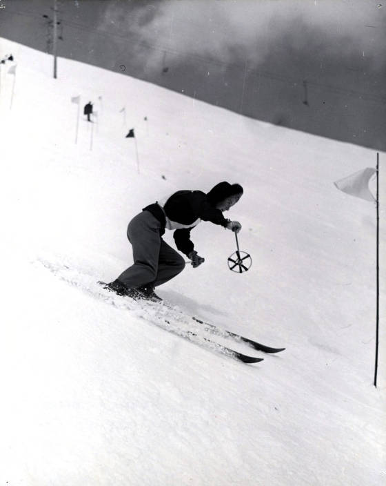 item thumbnail for Gretchen Frasier, winner of 1st Olympic Gold medal won by an American skiing at Sun Valley.