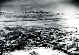 item thumbnail for Panoramic view of Challis, Idaho.
