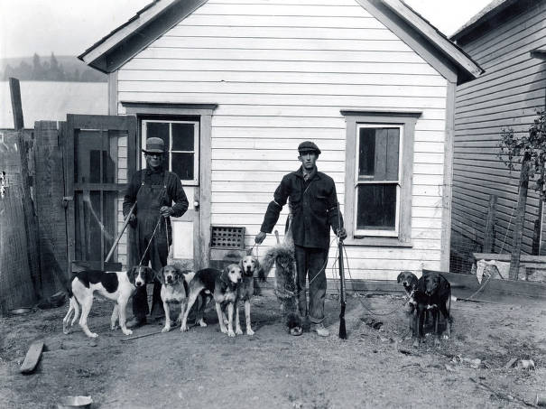 item thumbnail for Henry Weeks and Abe Weeks with hunting dogs.