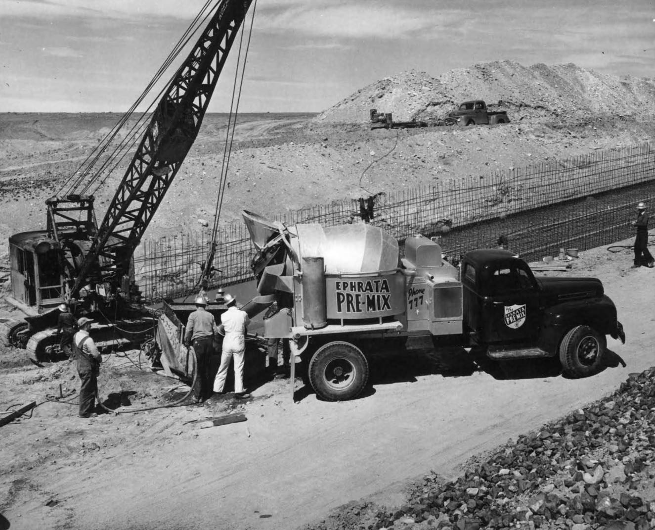 item thumbnail for Truck Pouring Concrete (Canal lining and construction)