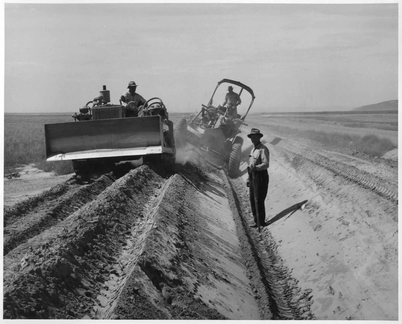 item thumbnail for Motor Grader Excavating (Farm development)
