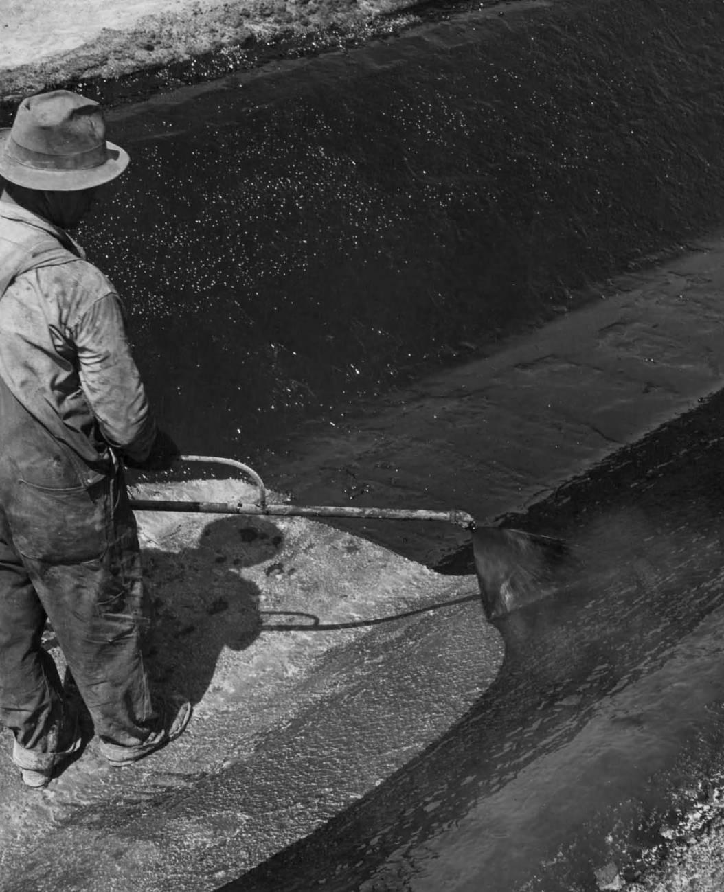 item thumbnail for Applying Heated Asphalt (Farm development)