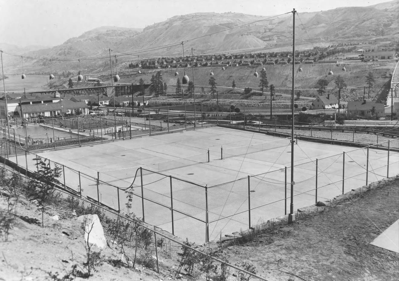 item thumbnail for Employee tennis courts 1938