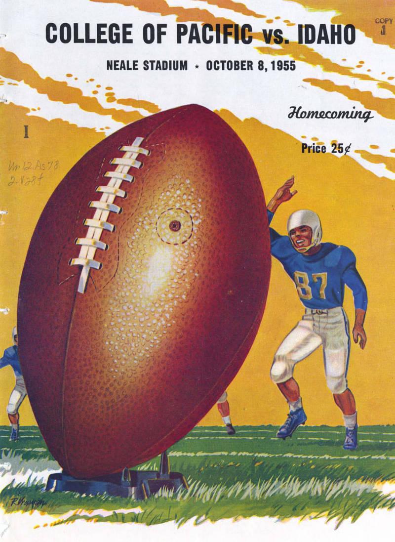 item thumbnail for Football Program: Idaho vs College of the Pacific, 10/08/1955, Neale Stadium, Moscow (Idaho)