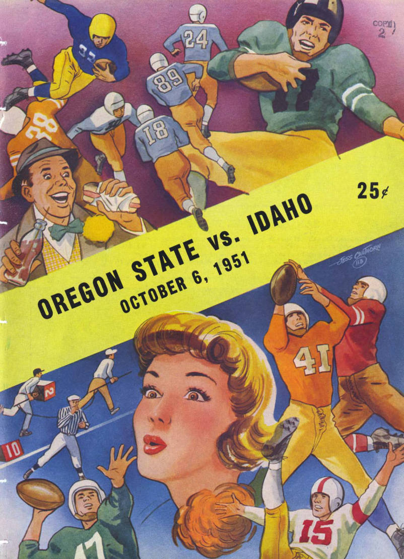 item thumbnail for Football Program: Idaho vs Oregon State, 10/06/1951, Spokane, WA