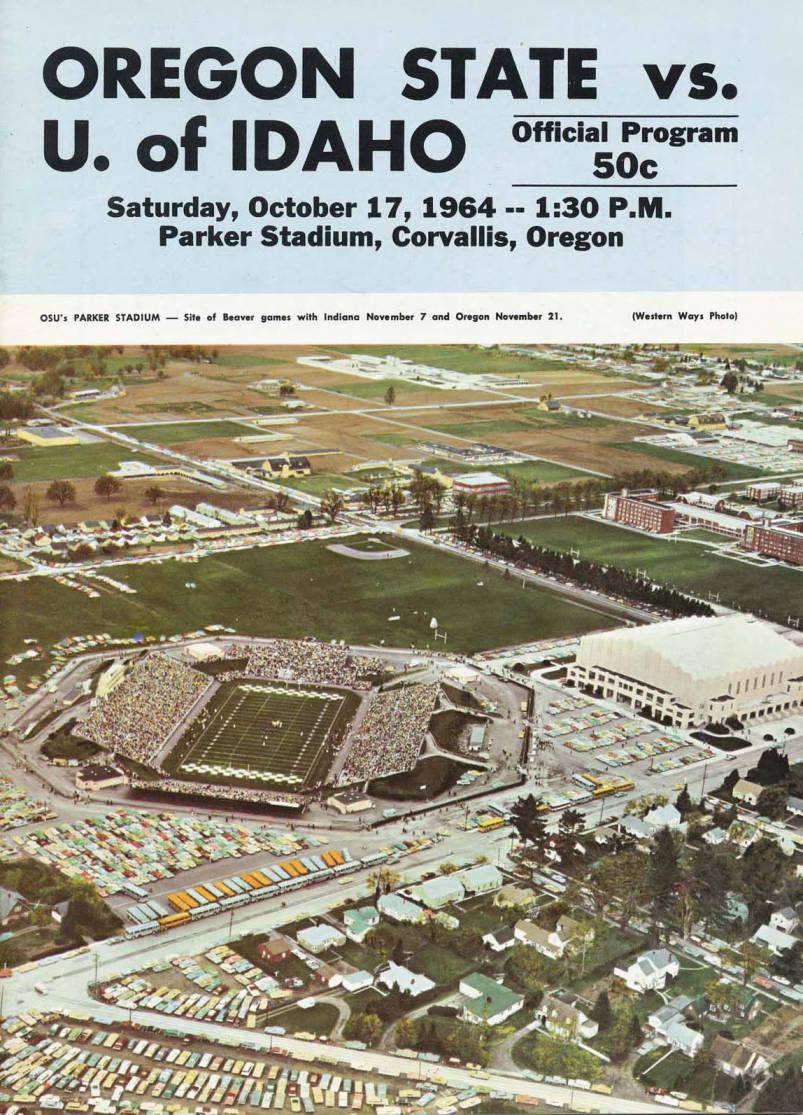 item thumbnail for Football Program: Idaho vs Oregon State, 10/17/1964, Parker Stadium, Corvallis (Oregon)