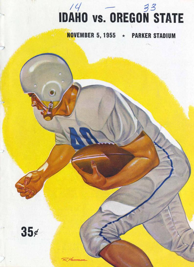 item thumbnail for Football Program: Idaho vs Oregon State, 11/05/1955, Parker Stadium, Corvallis (Oregon)